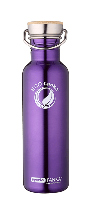 ECOtanka sportstanka with stainless steel bamboo lid Purple